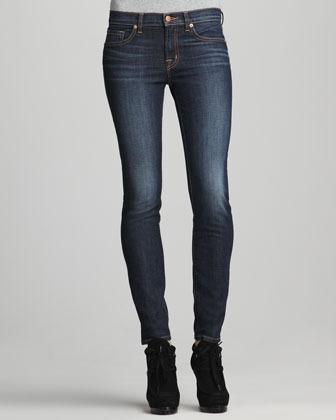 J Brand Jeans 811 Mid-Rise Dark Vintage Skinny Jeans