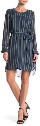 Daniel Rainn DR2 by Long Sleeve Striped Dress