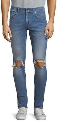 Tiger of Sweden Ripped Knee Slim-Fit Jeans