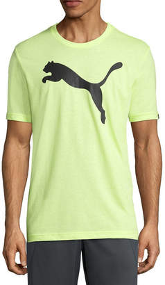 Puma Logo Heather Graphic Tee