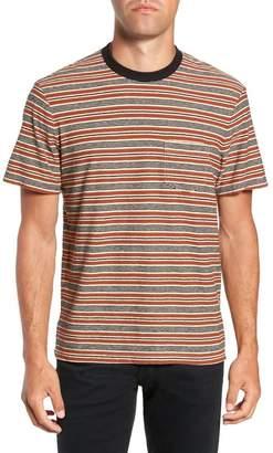 James Perse Vintage Stripe Regular Fit Pocket T-Shirt