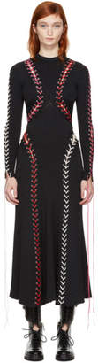 Alexander McQueen Black Lace-Up Knit Dress