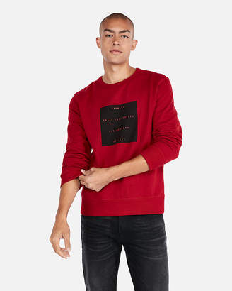 Express Graphic Fleece Sweatshirt