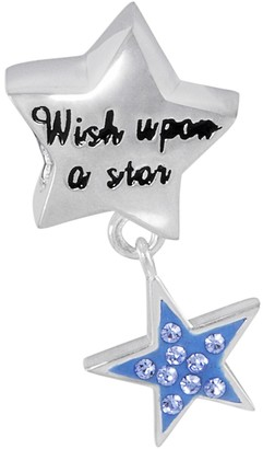 """Disney Sterling Silver Crystal """"Wish Upon a Star"""" Charm"""