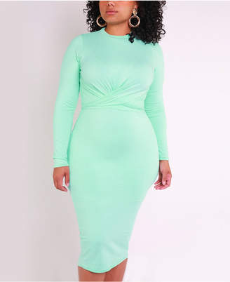 Rebdolls Cross Over Long Midi Dress by The Workshop at Macy