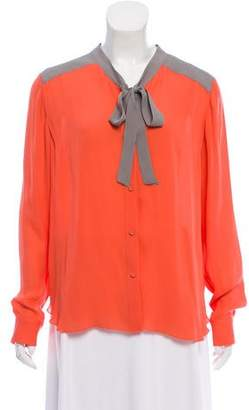 Mason Colorblock Button-Up Top