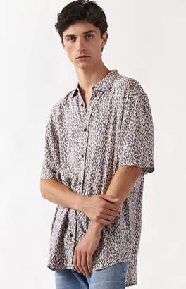 Insight Pink Panther Short Sleeve Button Up Camp Shirt