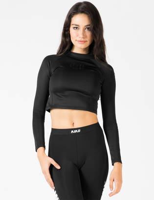 Vfiles Sport Plus Black 3D Vsp Logo L/S Cropped T-Shirt