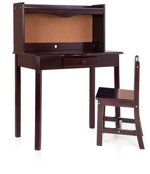 Guidecraft Classic 27 Writing Desk with Hutch
