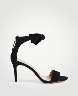 Ann Taylor Rosalyn Suede Leaf Heeled Sandals