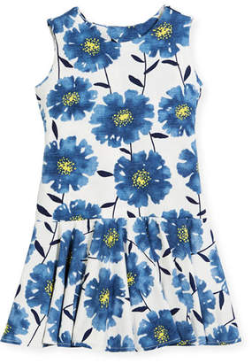 Helena Knit Daisies Drop-Waist Dress, Size 7-14