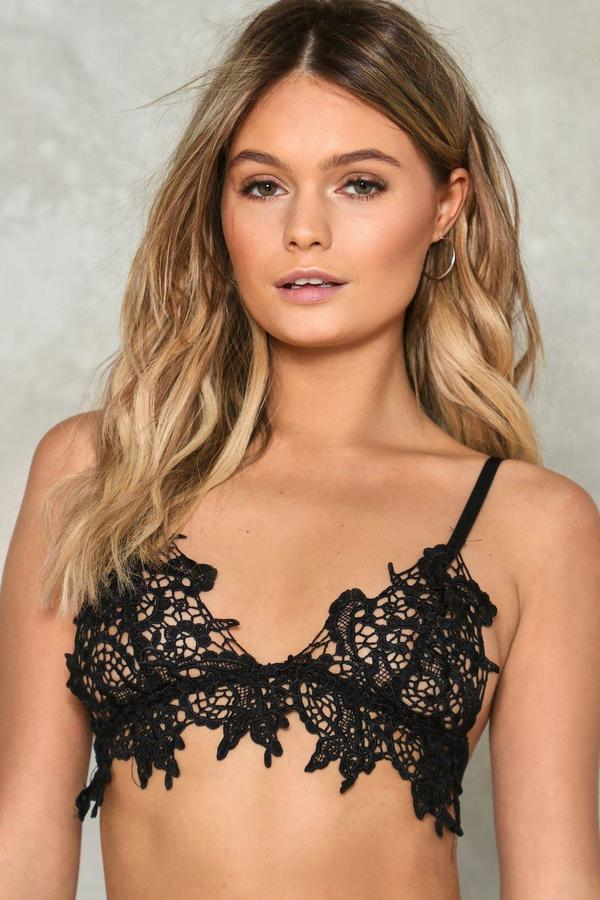 nastygal Lacey Sunday Lace Bralette