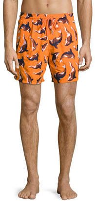 Vilebrequin Limited Edition Mistral Embroidered Whale Swim Trunks $590 thestylecure.com