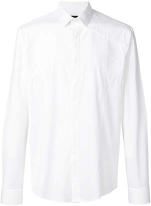 Les Hommes pleated panel shirt