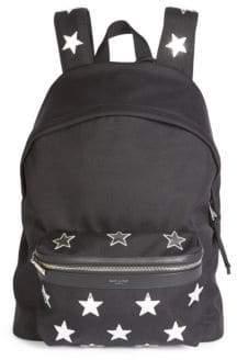 Saint Laurent Star Print Backpack