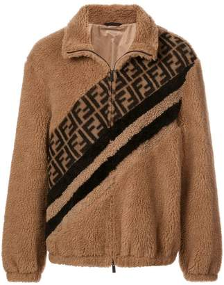 Fendi panelled FF logo jacket