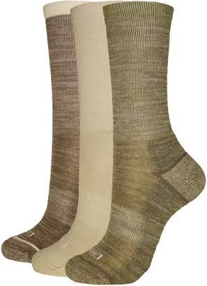 Dickies Women's 3-Pack Soft Light Wool Keeps Feet Dry All Year Crew Socks