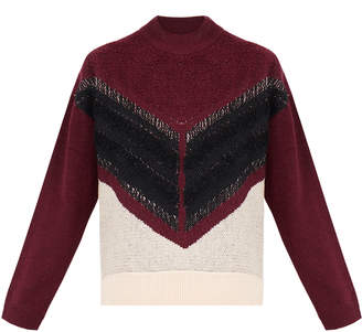 Dagmar Denise Twilight Burgundy Sweater