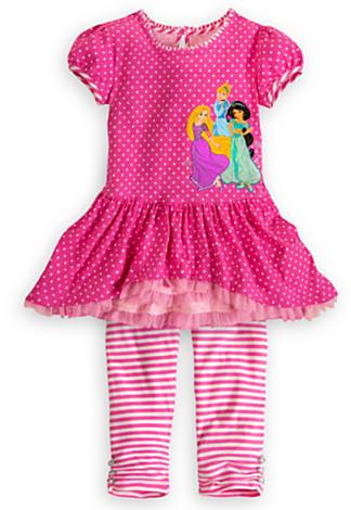 Disney Princess Dress and Leggings Set for Girls