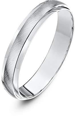 Theia Palladium 950, Super Heavy Weight, D Shape, Matt Centre 6mm Wedding Ring - Size Q