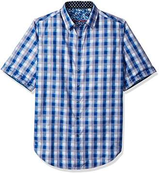 Robert Graham Men's Tall Size Greenfield S/s Woven Shirt