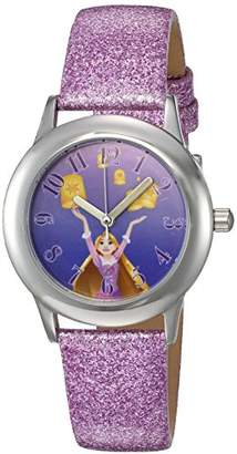 Disney Girl's 'Rapunzel' Quartz Stainless Steel and Leather Watch