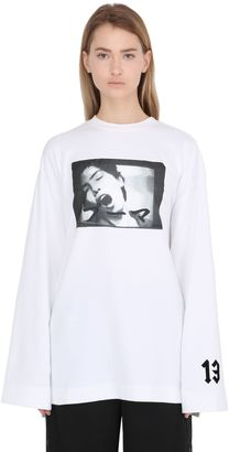 Graphic Printed Cotton T-Shirt $139 thestylecure.com
