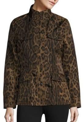 Jane Post Leopard Print Safari Jacket