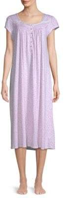 Eileen West Floral Short Sleeve Sleep Gown