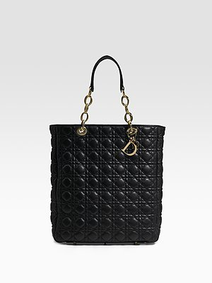 Dior Quilted Leather Shopping Bag