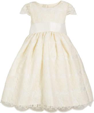 Luli & Me Cap-Sleeve Floral-Lace A-Line Dress, Size 4-6X
