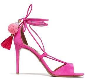 Dolce & Gabbana Pompom-embellished Suede Sandals