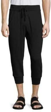 Vince Men's Regular-Fit Cropped Sweatpants - Black - Size XXL