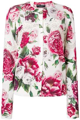 Dolce & Gabbana Peony print cardigan