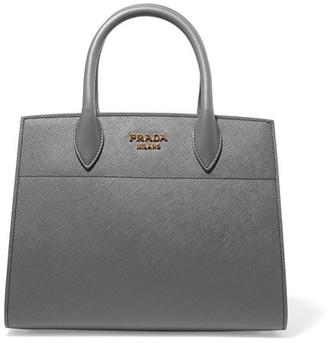 Prada - Bibliothèque Textured-leather Tote - Gray $2,840 thestylecure.com
