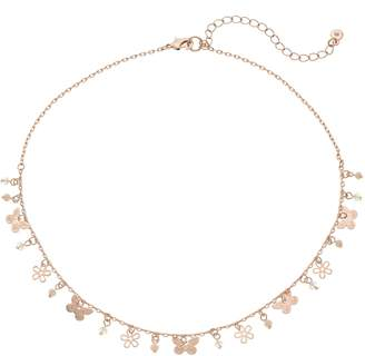 Lauren Conrad Butterfly & Flower Charm Necklace