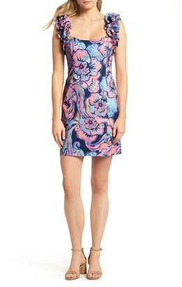 Lilly Pulitzer R) Devina Ruffle Strap Dress