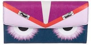 Fendi Embellished Monster Continental Wallet multicolor Embellished Monster Continental Wallet