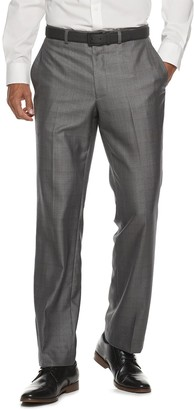 DAY Birger et Mikkelsen Men's Billy London Slim-Fit Sharkskin Flat-Front Charcoal Suit Pants