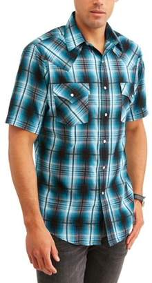 Plains Big and Tall Mens Short Sleeve Textured Plaids