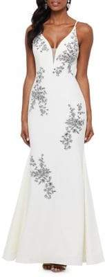 Xscape Evenings Embellished Floral Evening Gown