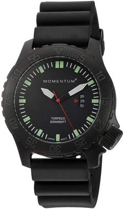 Momentum Men's 1M-DV76B1B Analog Display Japanese Quartz Black Watch