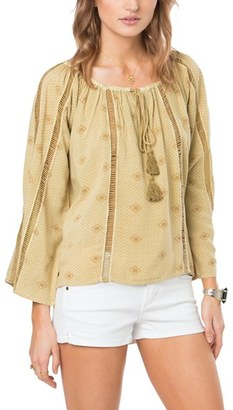 Women's O'Neill Adelyn Ladder Stitch Peasant Top $54 thestylecure.com