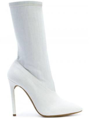 Yeezy bleached denim boots $595 thestylecure.com
