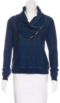 Maison Scotch Draped Long Sleeve Top