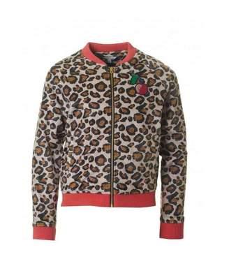 Little Marc Jacobs Leopard Print Cherry Jacket