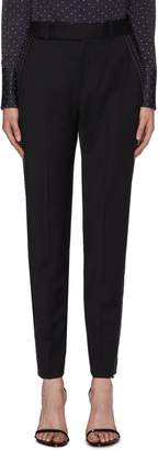 Equipment 'Warsaw' contrast topstitching outseam wool suiting pants