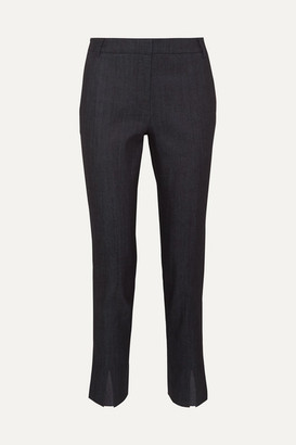 Tibi Beatle Mid-rise Straight-leg Jeans - Dark denim