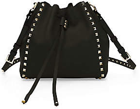 Valentino Women's Small Rockstud Leather Bucket Bag