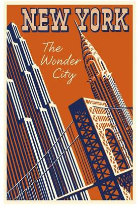 Art.com NY the Wonder City Premium Giclee Print - 30x46 cm